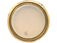 Regency 18ct Gold & Turquoise Seal with Chalcedony Base