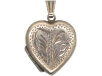 Silver Heart Double Sided Engraved Locket