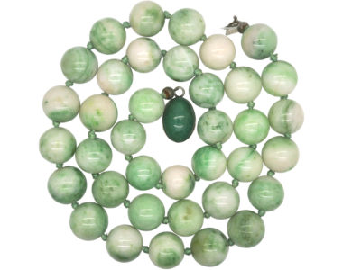 Moss in Snow Jade Beads with Silver & Aventurine Quartz