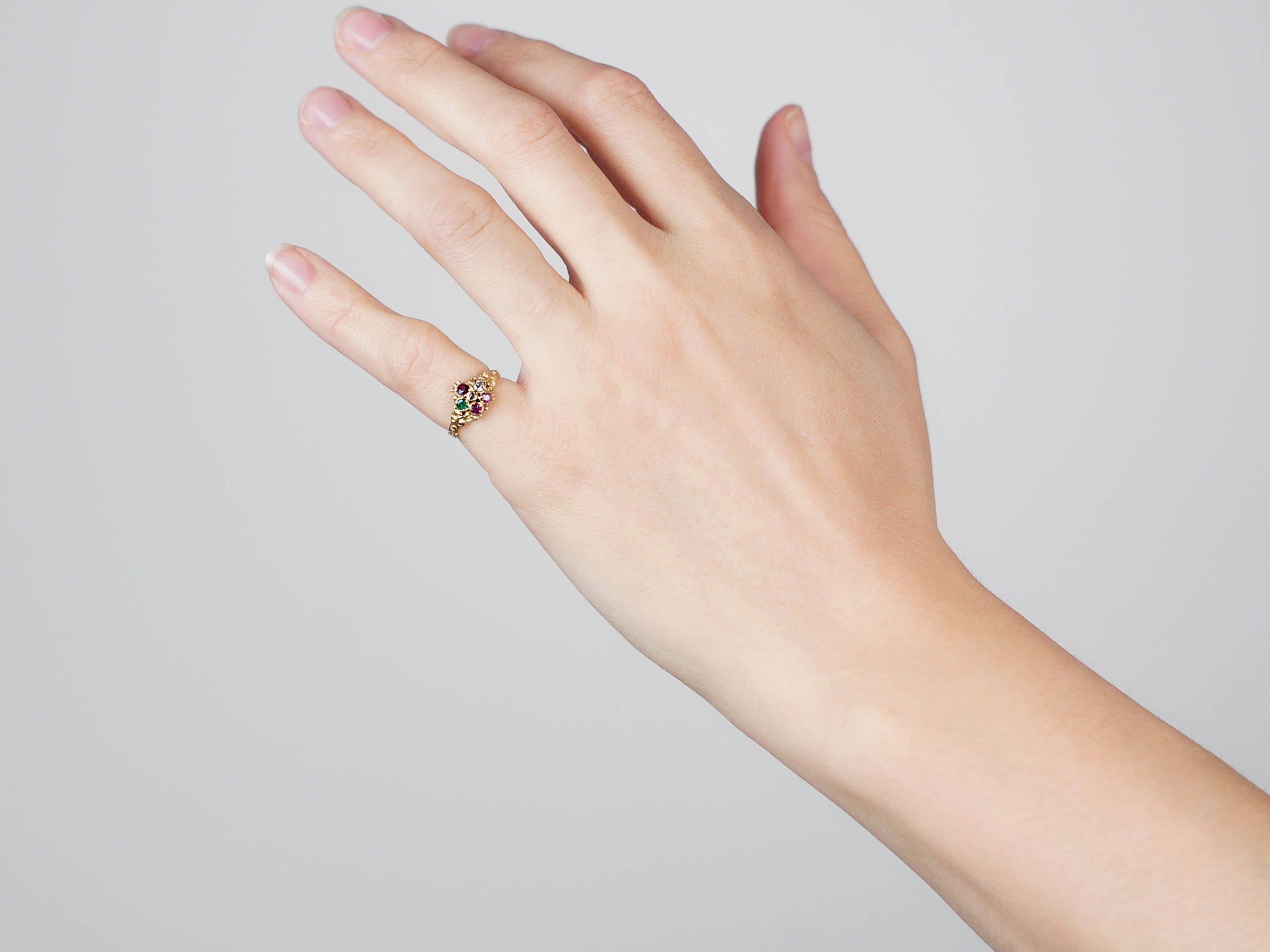 Georgian 15ct Gold Acrostic Ring that Spells Regard