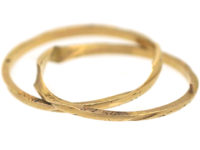 19th Century French 18ct Gold Gimmel Ring