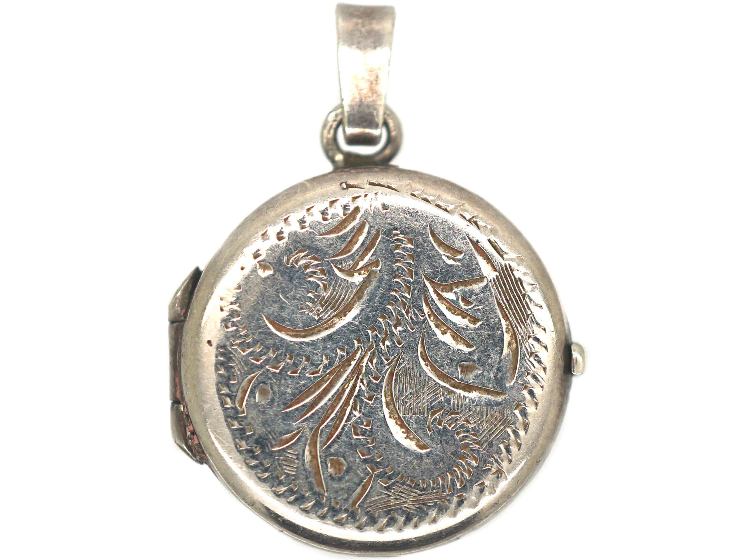Small Silver Round Locket