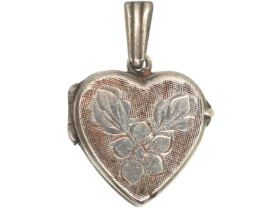 Silver Heart Shaped Locket