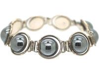 Silver & Haematite Bracelet