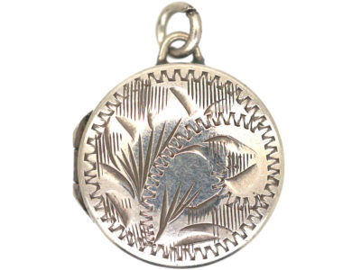 Small Silver Round Locket