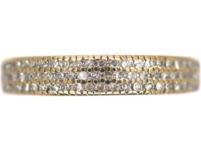 18ct Gold Three Row Diamond Ring