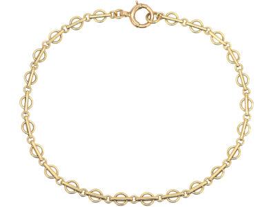 Edwardian 9ct Gold Fine Small Link Bracelet