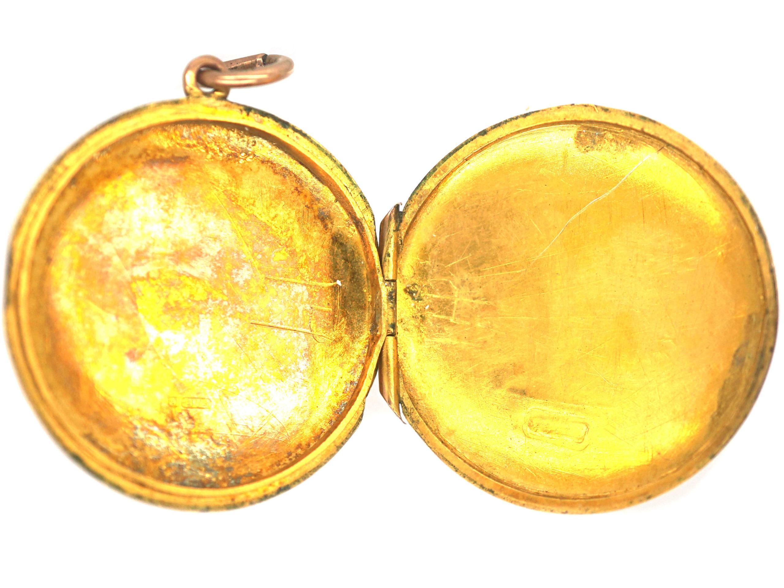 Edwardian 9ct Gold Round Locket