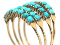 14ct Gold Harem Ring set with Turquoise
