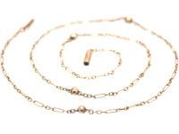 Edwardian 9ct Gold & Balls Ornate Chain