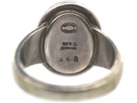 Silver & Agate Ring by Georg Jensen