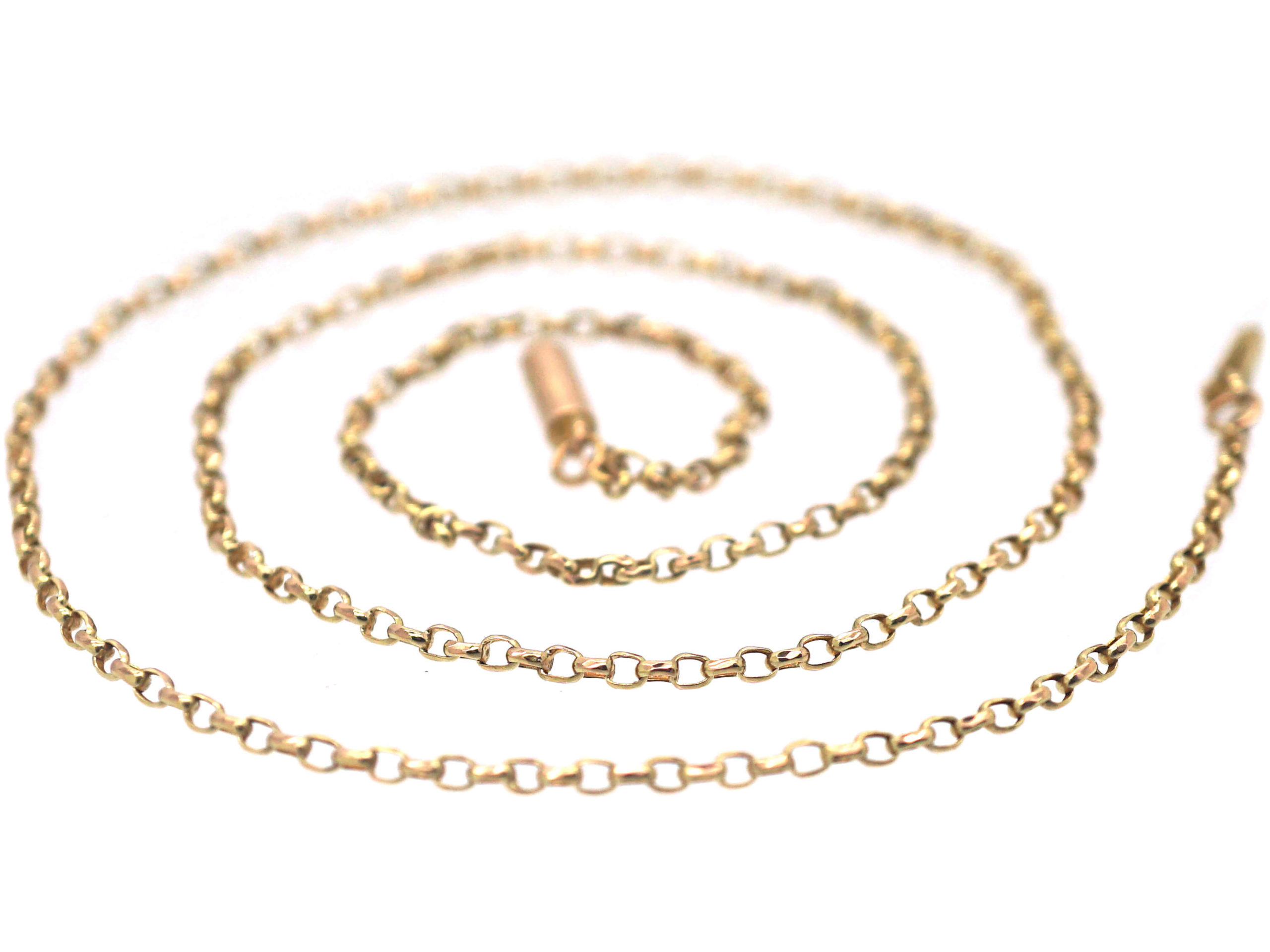 Victorian 9ct Gold Faceted Links Chain