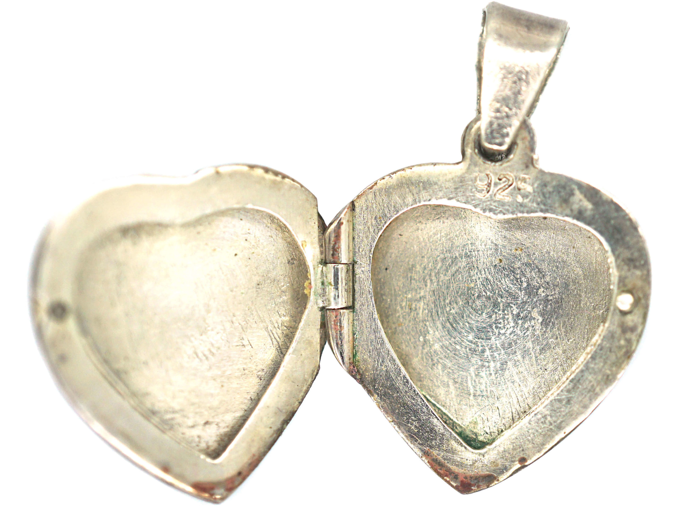 Silver Heart Shaped Locket with Dolphin Motif