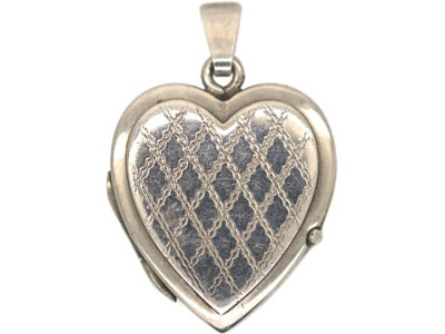 1970s Silver Heart Shaped Locket