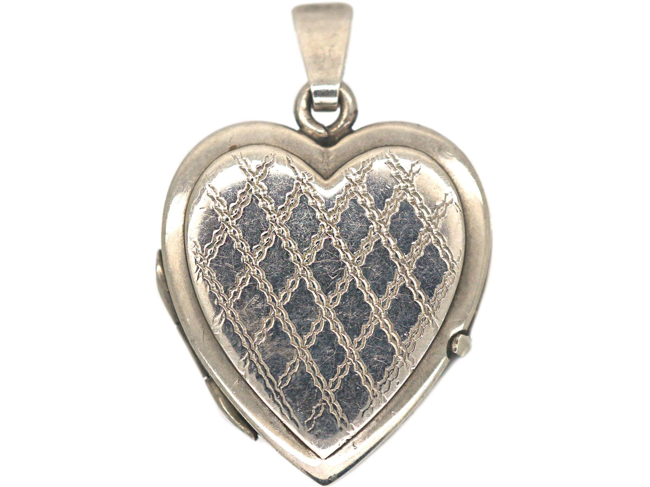 1970s Silver Heart Shaped Locket