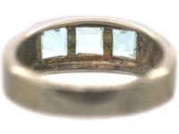 Silver & Light Blue Aquamarine Ring