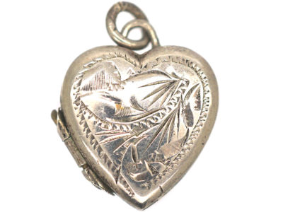 Small Silver Heart Shaped Locket