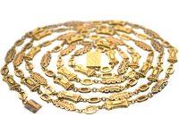 Georgian 15ct Gold Long Guard Chain