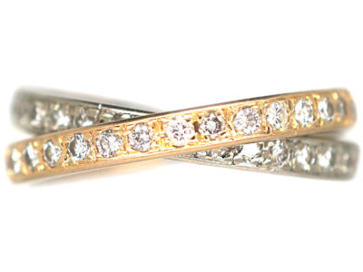 Pair of Interlinking Diamond Eternity Rings