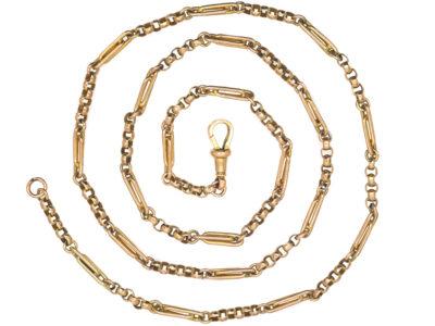 Edwardian 9ct Gold Medium Length Chain with Dog Clip