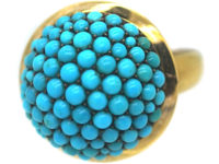 15ct Gold Pave Set Turquoise Ring