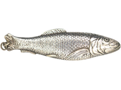 Victorian Silver Trout Pendant