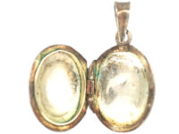 Small Silver Oval Locket