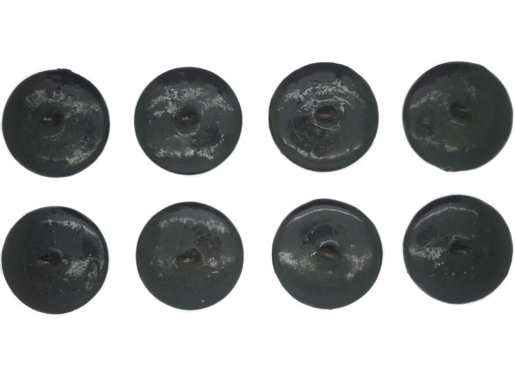 Victorian set of Eight Papier mâché  Buttons