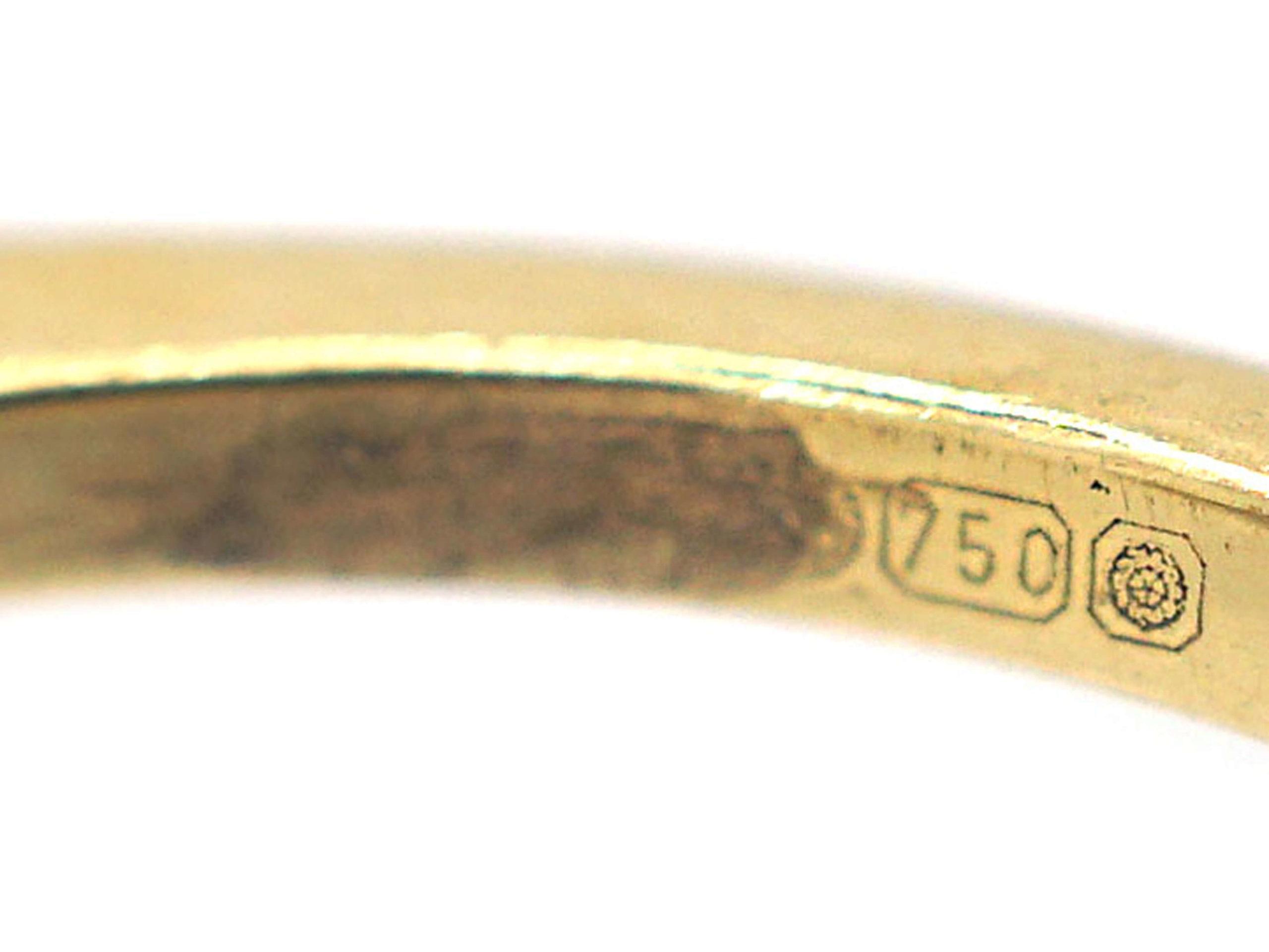 18ct Gold Princess Cut Sapphire & Diamond Ring
