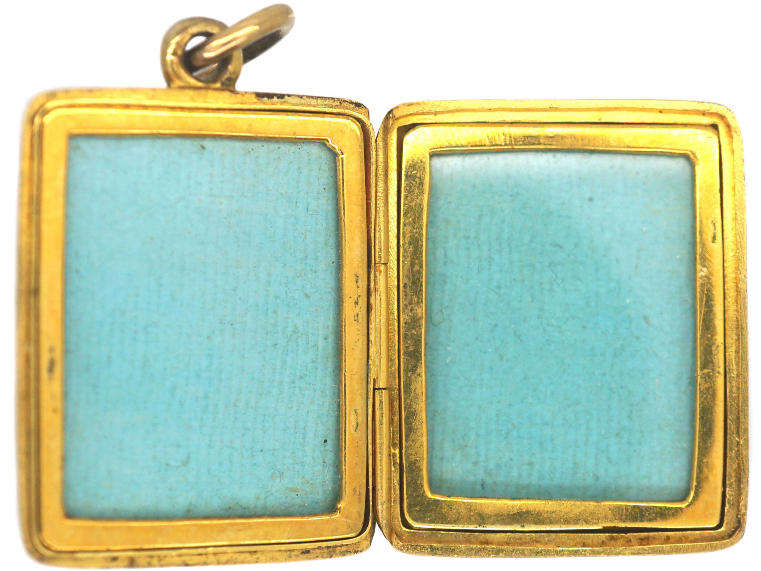 Victorian 15ct Gold Horseshoe & Buckle Rectangular Locket