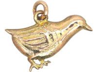 Edwardian 9ct Gold Bird Charm
