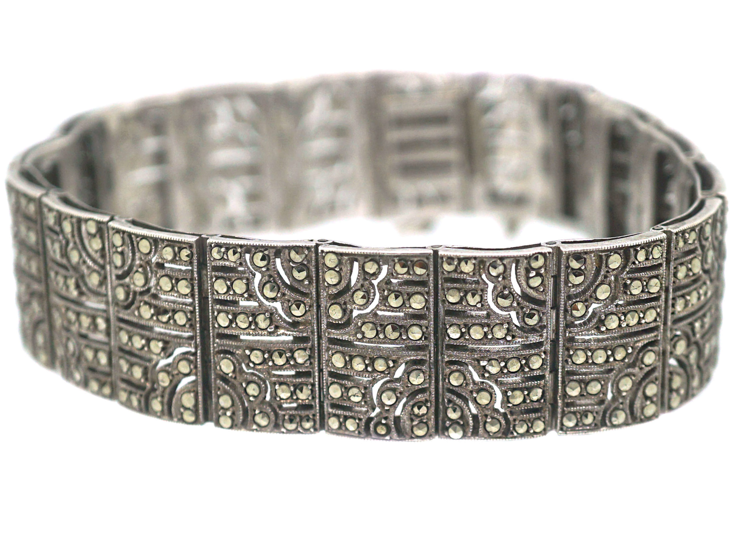 Art Deco Silver & Marcasite Bracelet
