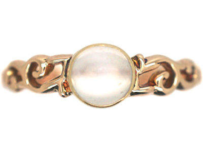 Edwardian 9ct Gold & Moonstone Ring