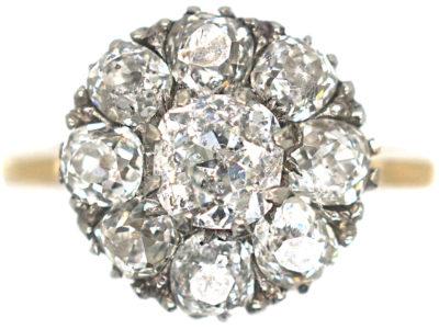 Edwardian 18ct Gold, Diamond Cluster Ring