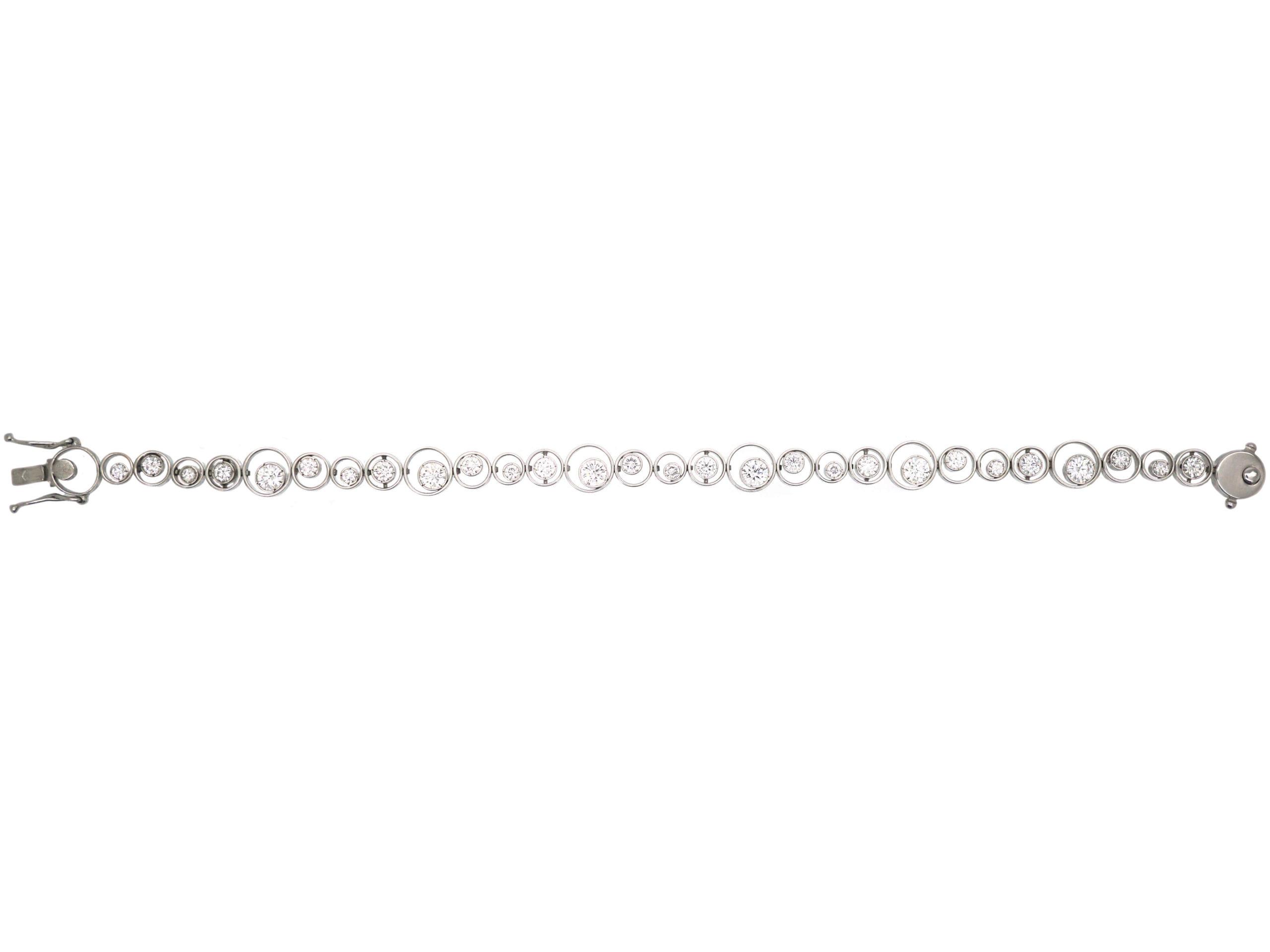 18ct White Gold & Diamond Tourbillon Bracelet by Fred, Paris