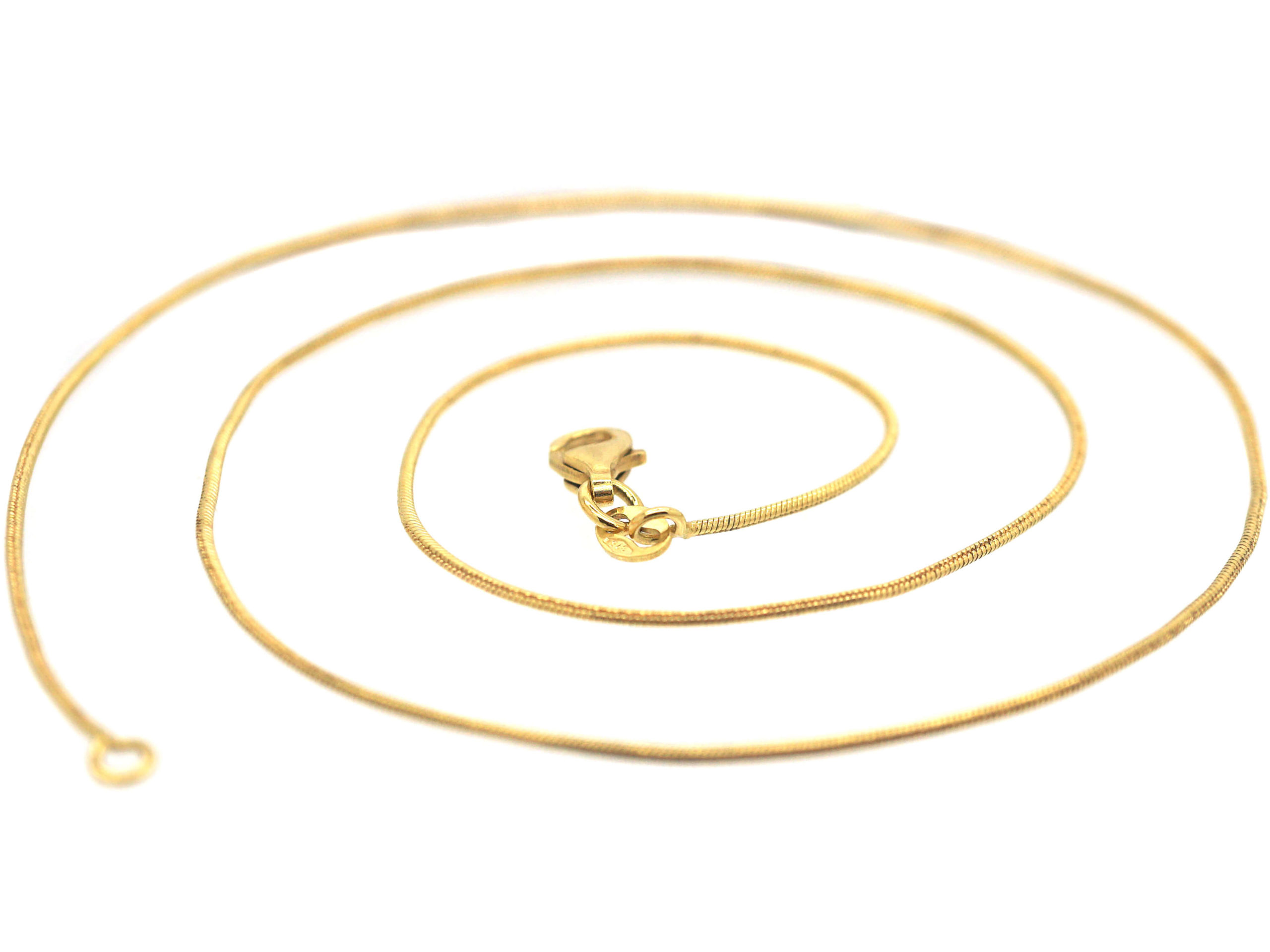 Modern 9ct Gold Snake Chain with Lobster Clasp