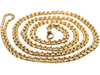 Victorian 9ct Gold Belcher Link Long Guard Chain