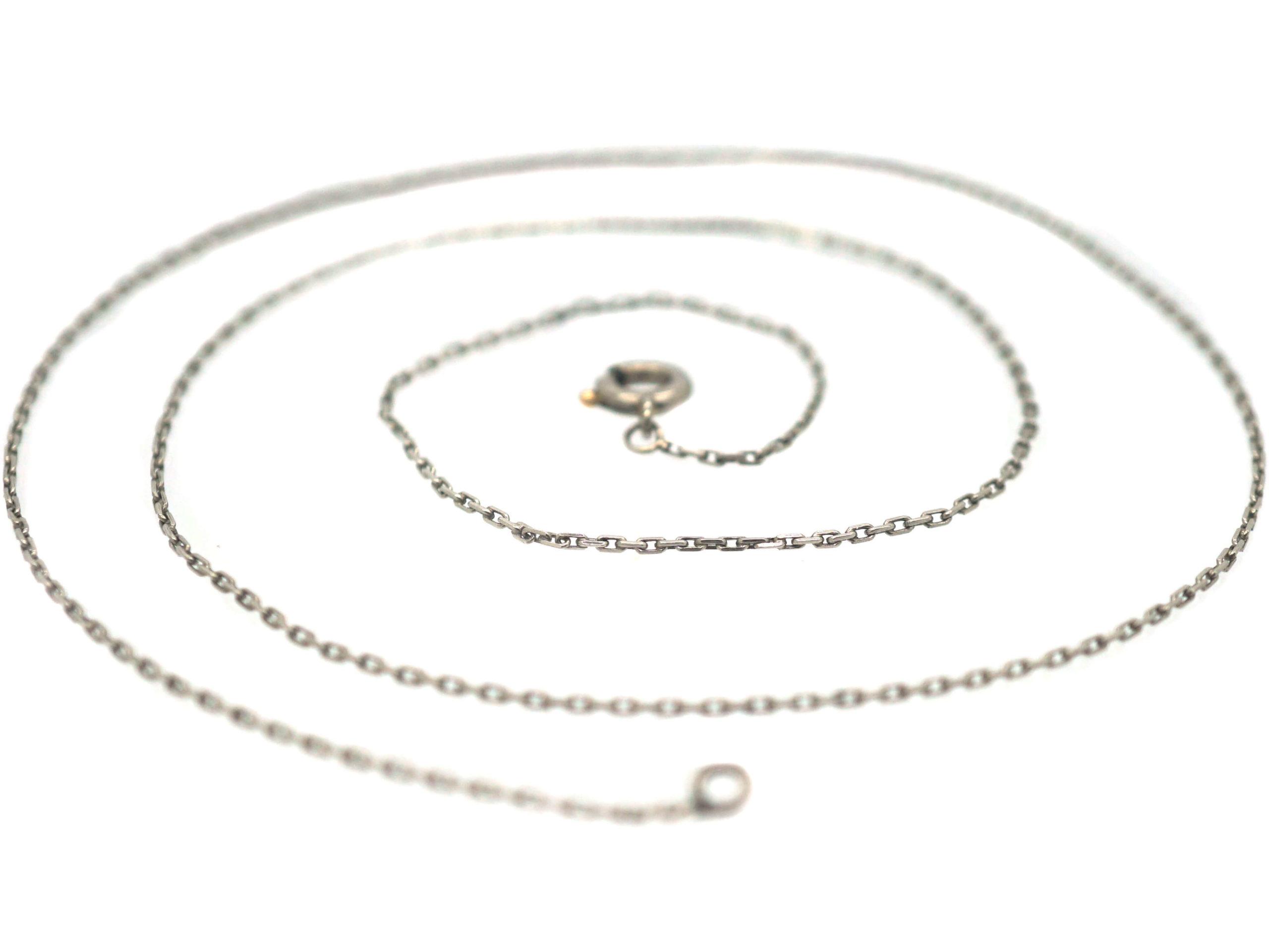 Edwardian Fine Platinum Chain
