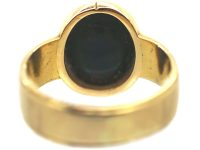 Victorian 18ct Gold Signet Ring with Bloodstone Intaglio of a Heraldic Gryphon