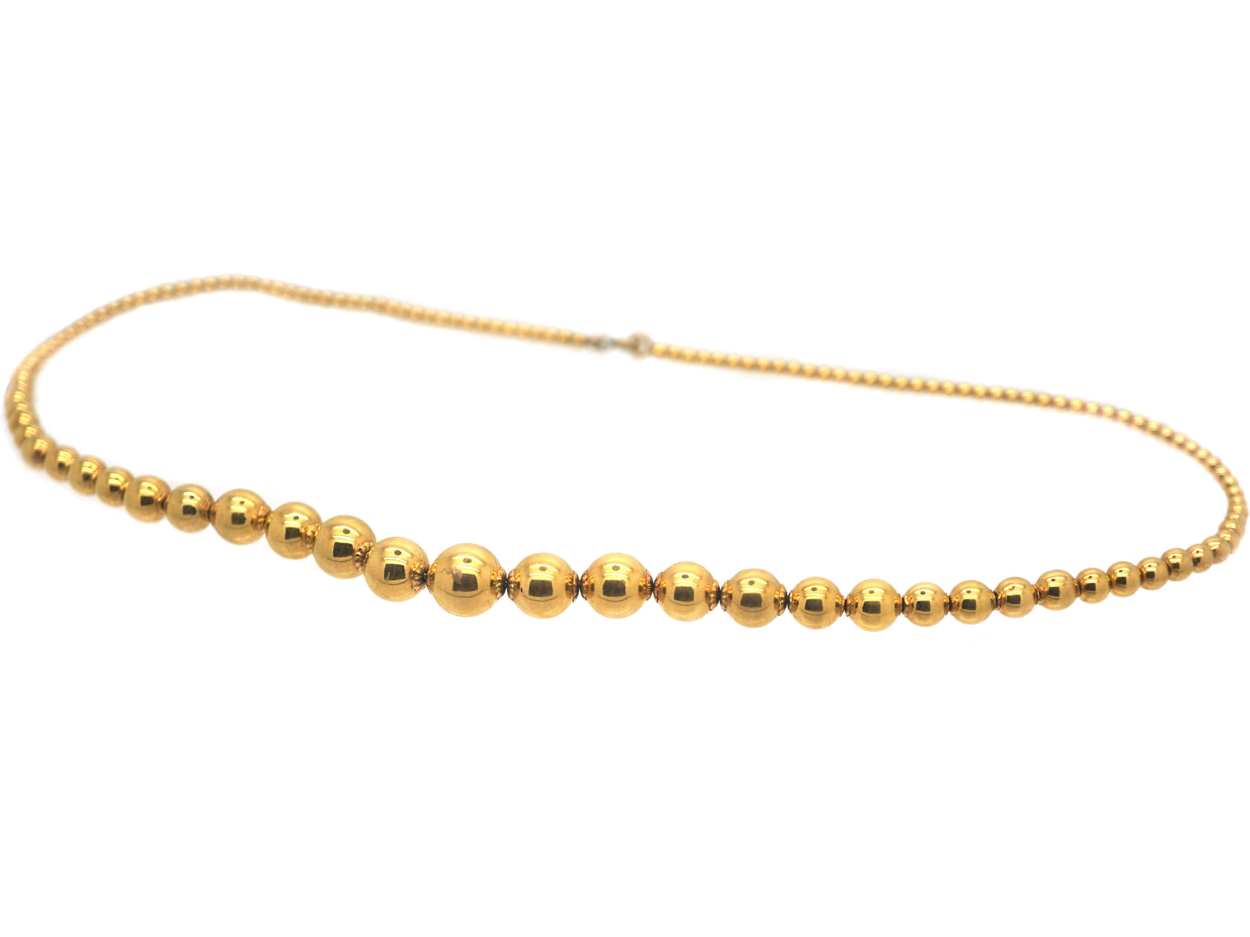 French Gold Graded Beads Necklace