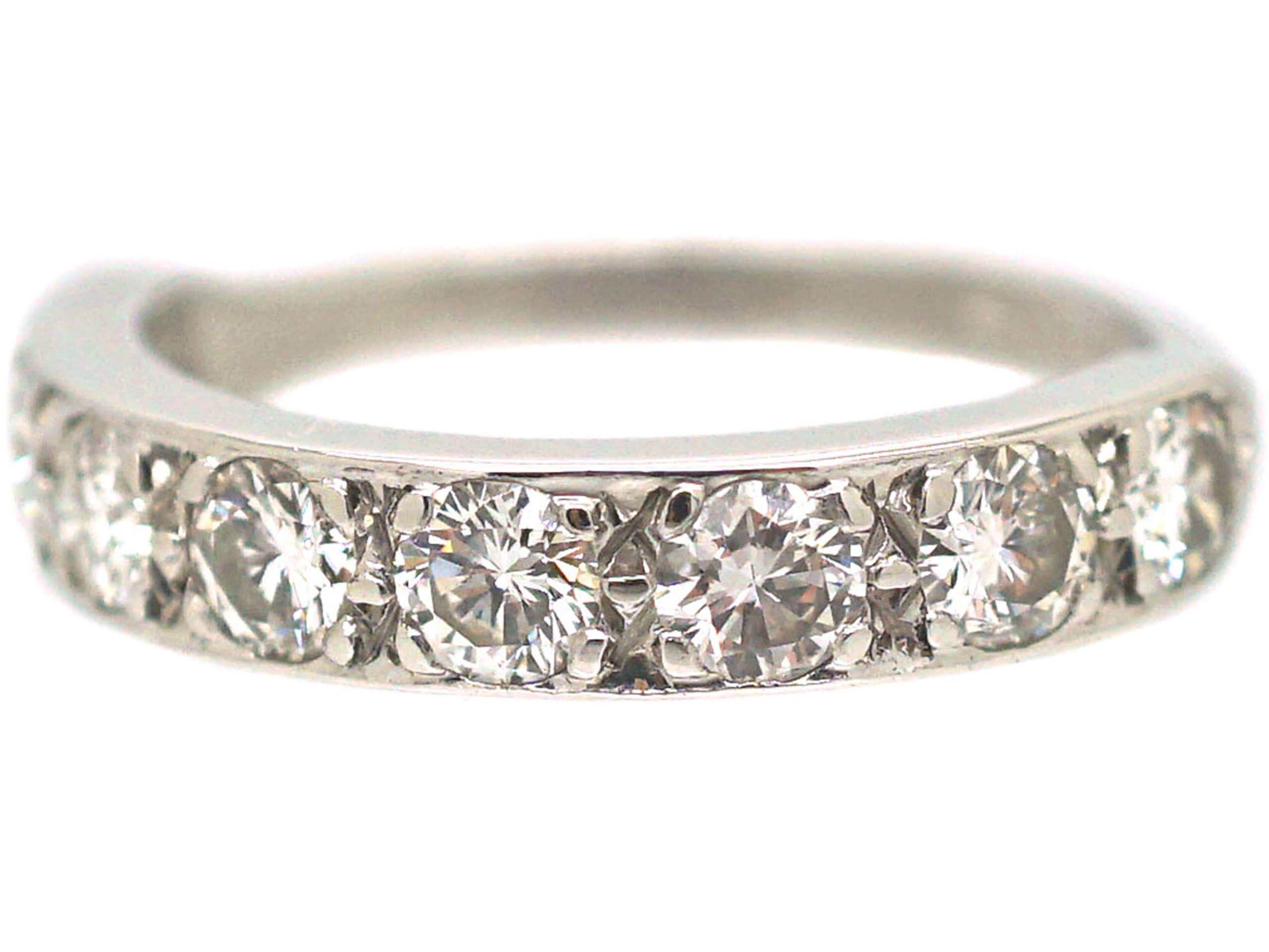 18ct White Gold Half Eternity Diamond Ring
