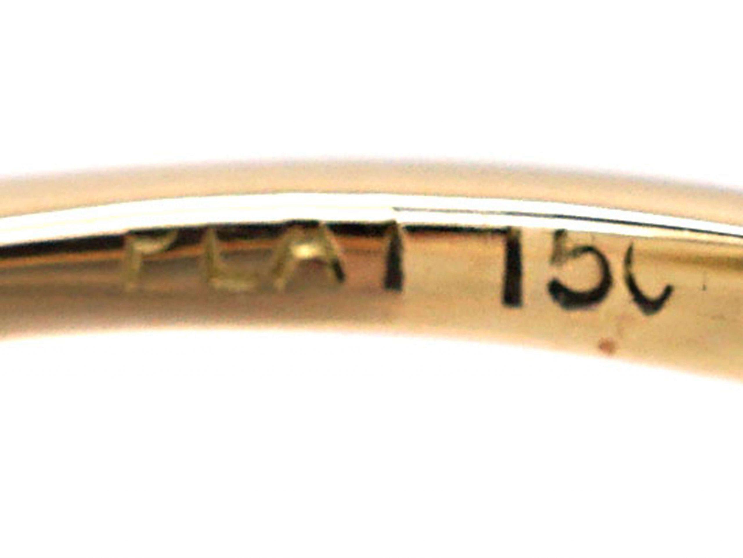 Art Deco 15ct Gold & Platinum, Aquamarine Ring