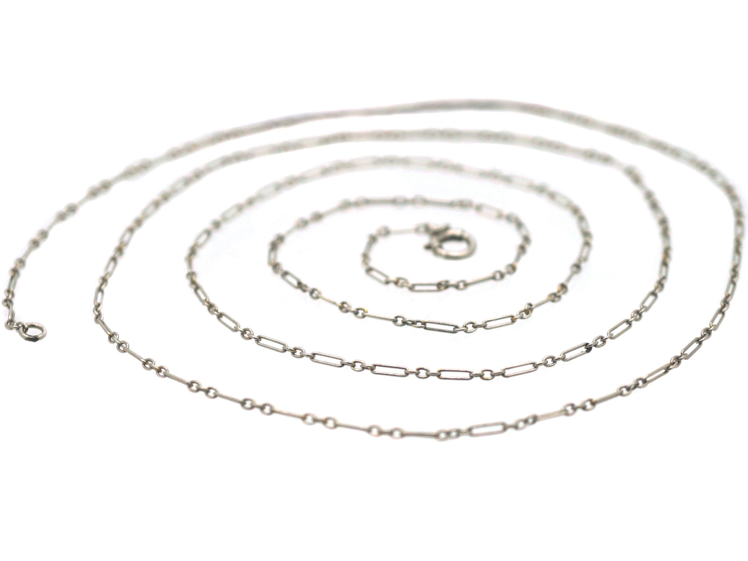 Edwardian Long Platinum Chain