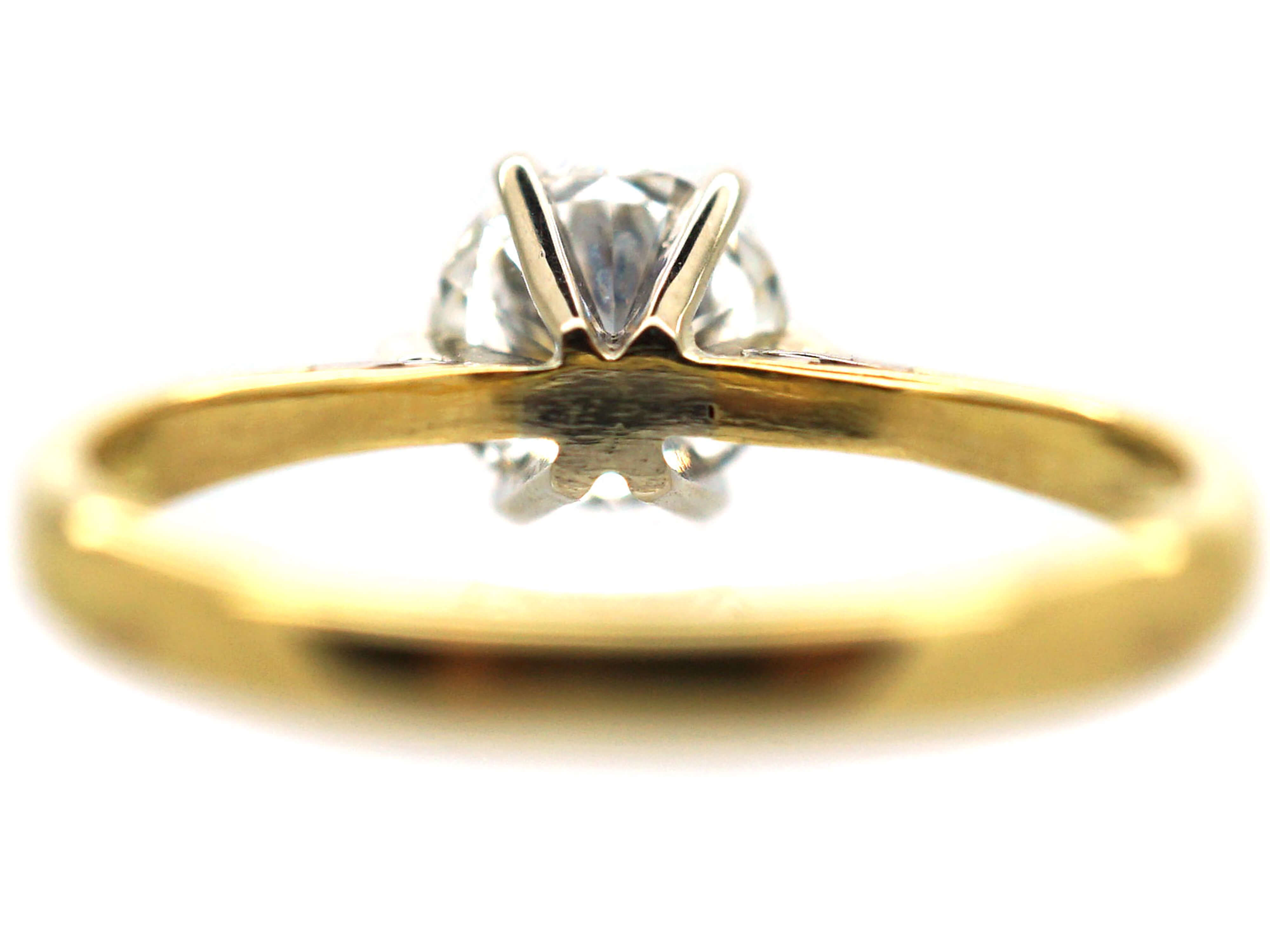 18ct Gold One Carat Diamond Solitaire Ring