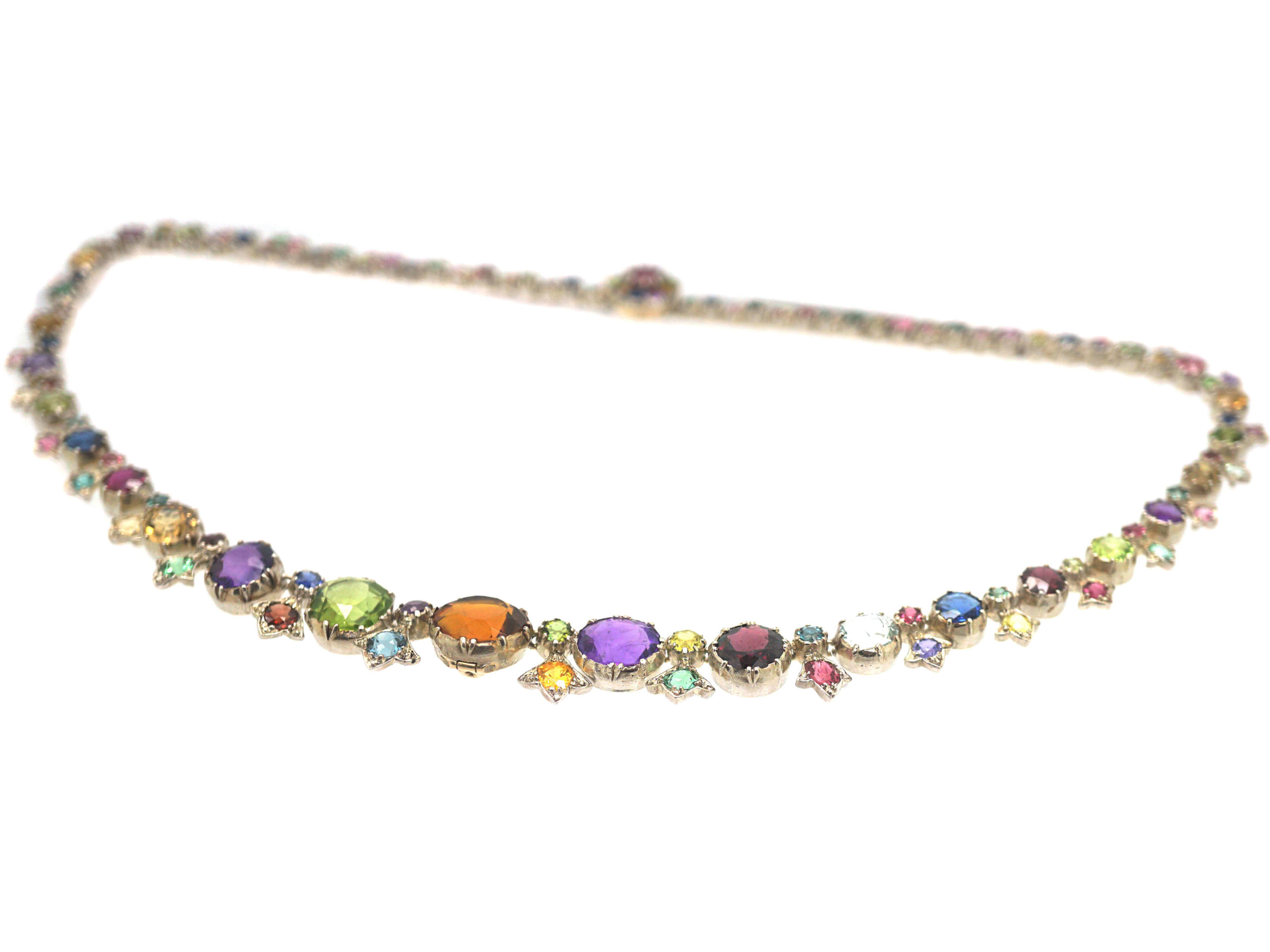 Victorian Gold & Silver Harlequin Necklace
