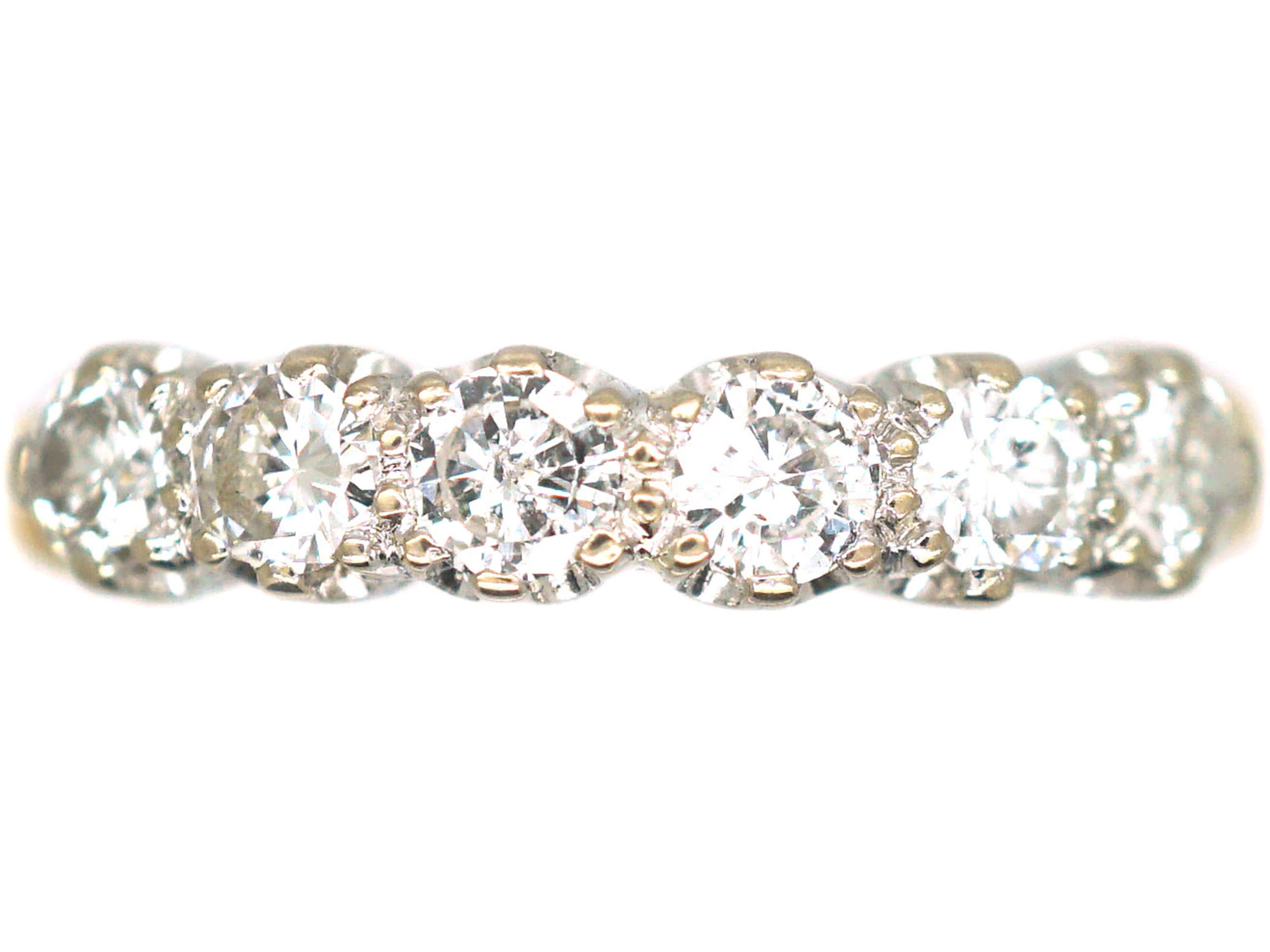 18ct Gold, Six Stone Diamond Ring