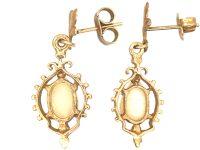 9ct Gold, Opal Drop Earrings