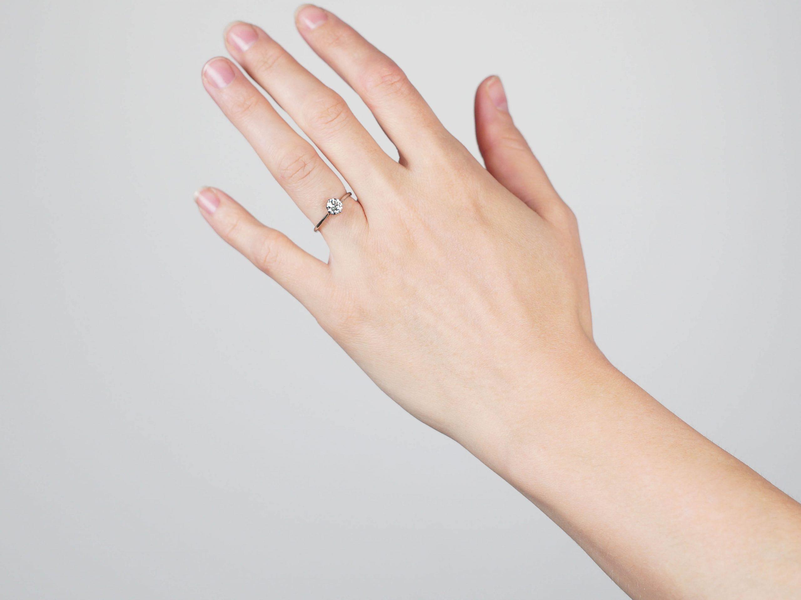Art Deco Platinum & Diamond Solitaire Ring