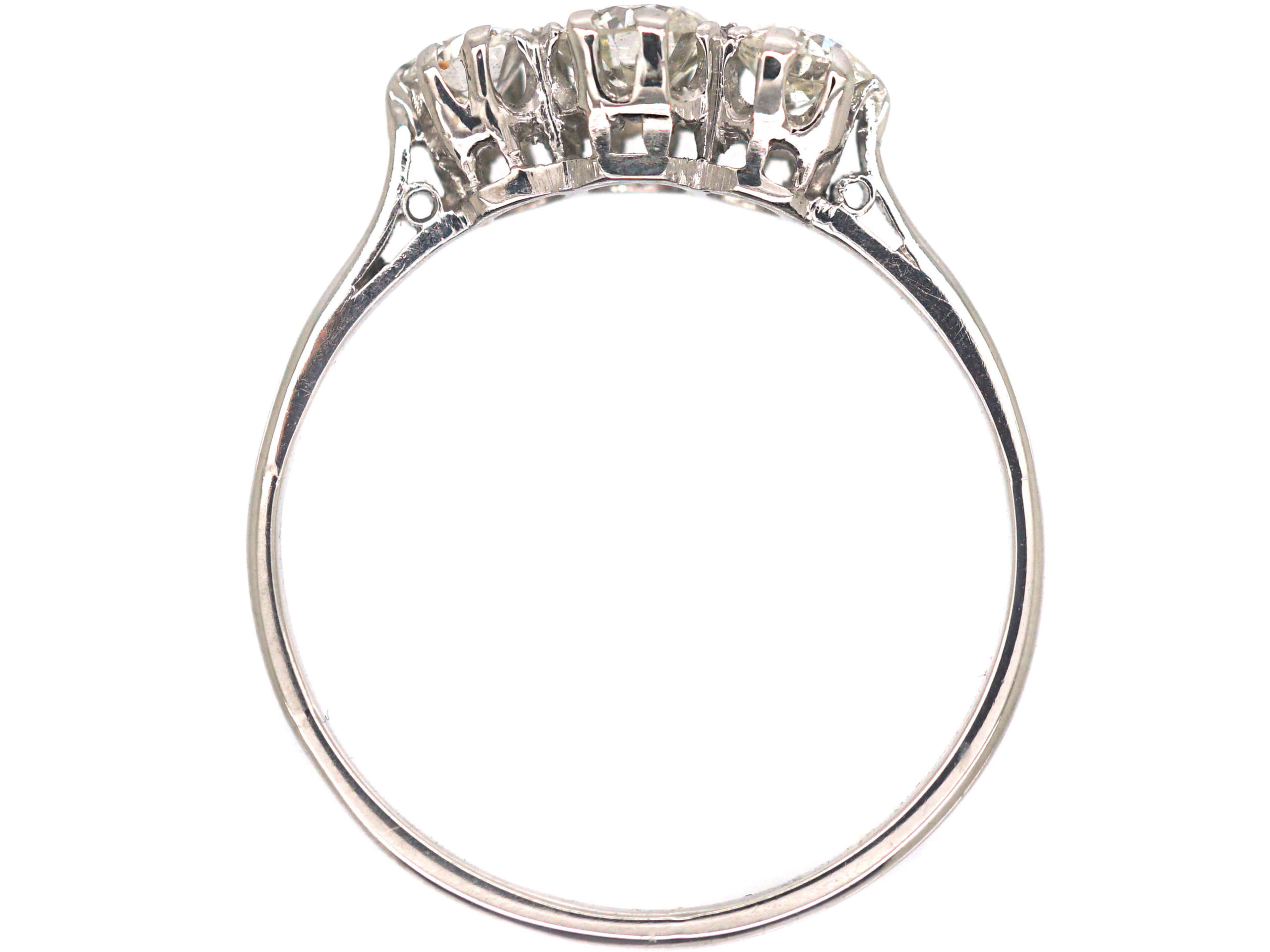 Art Deco Platinum & Three Stone Diamond Ring