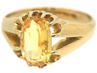 Victorian 18ct Gold & Topaz Ring